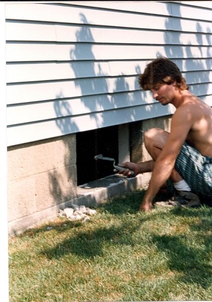 Lou installing in 94