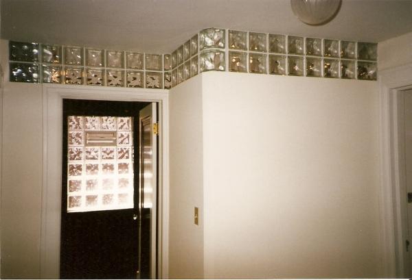 Glass Block Night Light Window