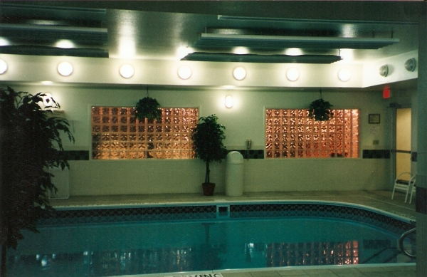 Glass Block Pool House Windows