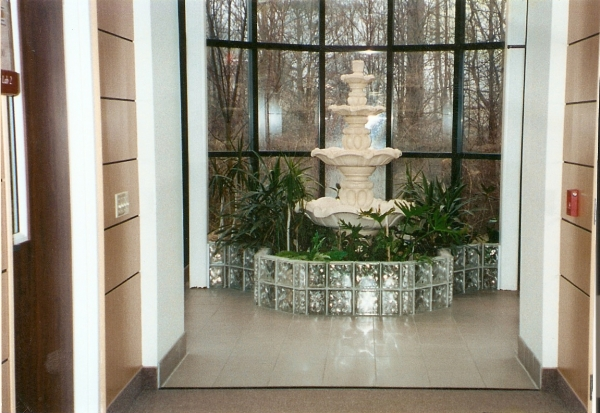 Glass Block Fountain Surround