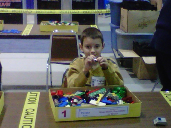 Payton Brutto our Lego Builder at 2010 BA home show