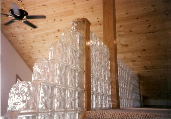 Glass Block Railing, Glass Block Stairs